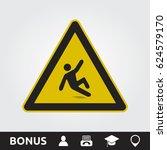 wet floor sign | Shutterstock .eps vector #624579170