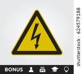 lighting bolt sign | Shutterstock .eps vector #624579188