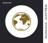 globe vector icon | Shutterstock .eps vector #624579836