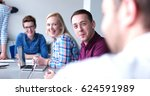 group of business people... | Shutterstock . vector #624591989