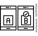 usability testing vector icon
