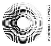 concentric circles geometric... | Shutterstock . vector #624596828