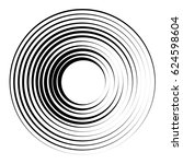 concentric circles geometric... | Shutterstock . vector #624598604