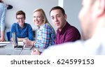group of business people... | Shutterstock . vector #624599153