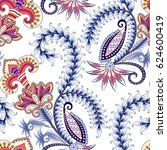 seamless pattern with white... | Shutterstock .eps vector #624600419