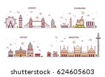 business city in england.... | Shutterstock .eps vector #624605603
