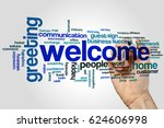 welcome word cloud concept on... | Shutterstock . vector #624606998