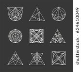 set of geometric shapes. can be ... | Shutterstock .eps vector #624610049