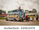abidjan  ivory coast  africa.... | Shutterstock . vector #624612476