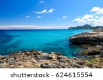 cala rajada   beautiful coast... | Shutterstock . vector #624615554