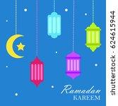 ramadan kareem greeting   Shutterstock .eps vector #624615944