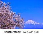mt. fuji and cherry blossom ...   Shutterstock . vector #624634718