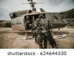 military transport helicopters  | Shutterstock . vector #624644330