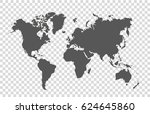 world map | Shutterstock .eps vector #624645860