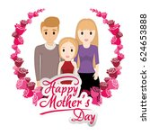 happy mothers day family... | Shutterstock .eps vector #624653888