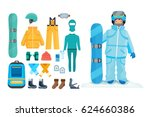set for creating a character ... | Shutterstock .eps vector #624660386