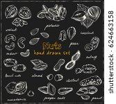 nuts seamless pattern. useful... | Shutterstock .eps vector #624663158