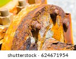 corrosive rusted bolt with nut...