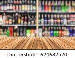wooden board empty table in... | Shutterstock . vector #624682520