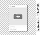 social network photo frame.... | Shutterstock .eps vector #624683510