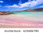 elafonissi beach with pink sand ... | Shutterstock . vector #624686780