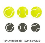 tennis balls set. black... | Shutterstock .eps vector #624689339