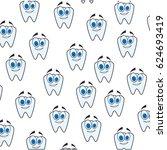 dental care cartoon | Shutterstock .eps vector #624693419