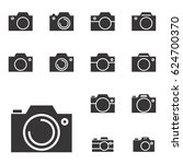 set of photo camera icon or... | Shutterstock .eps vector #624700370