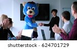 boss dresed as teddy bear... | Shutterstock . vector #624701729
