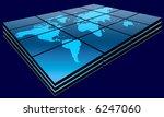 world map in blue gradient on...   Shutterstock . vector #6247060