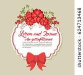 wedding invitation floral frame | Shutterstock .eps vector #624713468