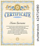 certificate blank template of... | Shutterstock .eps vector #624714080