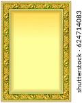 hard vintage frame border for... | Shutterstock .eps vector #624714083