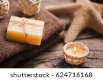 spa and wellness setting with...   Shutterstock . vector #624716168