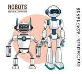 robots android modern technology | Shutterstock .eps vector #624716918