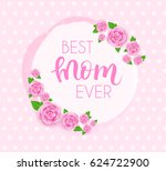 mother's day greeting card with ... | Shutterstock .eps vector #624722900