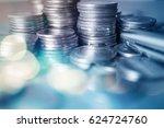 double exposure of bokeh and... | Shutterstock . vector #624724760
