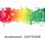 multicolor paint splatter... | Shutterstock . vector #624731648
