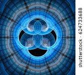 abstract fractal illustration... | Shutterstock . vector #624733688