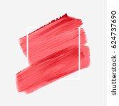 logo brush painted acrylic...   Shutterstock .eps vector #624737690