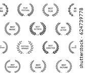 black and white film award... | Shutterstock .eps vector #624739778