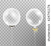 set of shiny glossy balloons. ... | Shutterstock .eps vector #624741176