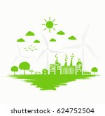 ecology and sustainable... | Shutterstock .eps vector #624752504