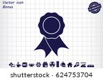 award badge icon | Shutterstock .eps vector #624753704