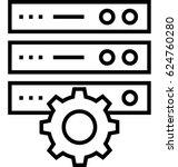 dedicated server vector icon | Shutterstock .eps vector #624760280