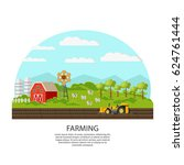 agriculture and farming concept ... | Shutterstock .eps vector #624761444