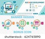 business development and... | Shutterstock .eps vector #624765890