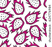 vector pattern with hand drawn... | Shutterstock .eps vector #624776984