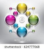 infographic design template for ...   Shutterstock .eps vector #624777068