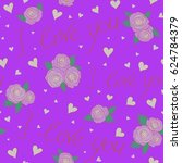 seamless pattern with fashion... | Shutterstock . vector #624784379